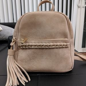 Charming Charlie mini backpack (faux suede)